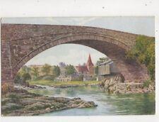 The Old Bridge Rhayader AR Quinton [Salmon 2168] Vintage Art Postcard 360b