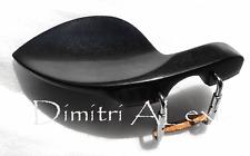 Ebony Guarneri Style Chinrest for 3/4 - 4/4 Violin , Comes w, Standard Bracket