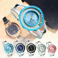Ladies Bangle Crystal Dial Stainless Steel Quartz Analog Bracelet Wrist Watch AE