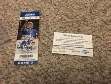 New England Patriots Cordarrelle Patterson Signed NFL Debut Ticket! Vikings
