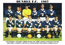 Dundee f.c. team imprimer 1967 (cox/stuart/bryce)