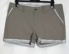 White Stuff beige Baumwolle Stretch Shorts Gr. 18 (ws-60h)