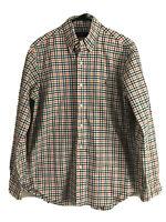 Ralph Lauren Button Down Dress Shirt Mens Medium Check Long Sleeve Cotton Euc