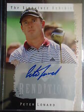 Peter Lonard 2003 Upper Deck Rendentions Signature Exibits Autograph Card