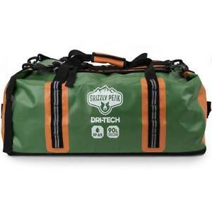 Grizzly Peak Dri-Tech Waterproof Dry Duffle Bag 90L - Camping Kayaking Canoeing
