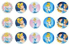 15 x Cinderella Bottle Cap Logo Images for Necklaces, Magnets, Scrapbooking, Bow