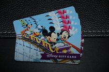 WDW 2015 Disney Gift Card Mickey Mouse Minnie Coaster Donald Goofy No Cash Value
