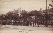 France Tours - Place des Arts Le Marche Antique Market old unused postcard
