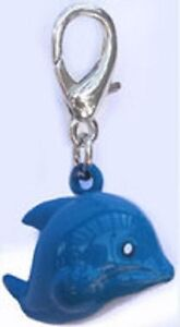 NEW Diva Dog Pet Jewelry Enameled Collar Charm Lobster Clasp Jingle Bell DOLPHIN