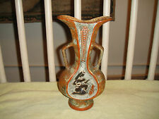 Vintage F LLi Marchi Double Handle Candlestick Holder Vase-Brescia Italy-Egyptia