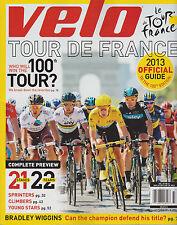 VELO 2013 Official Tour de France Guide Vol.42 No.8, COMPLETE PREVIEW.