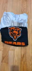 NFL Twin Size Sheet Set by Northwest with Chicago Bears Pillow Sham