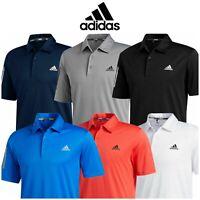 adidas 3-Stripe Mens Basic Short Sleeve Golf Polo Shirt 2020 Model