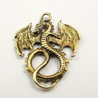 Antiqued Gold Vintage Alloy Cute Fly Dragon Pendant Charms Finding 24pcs