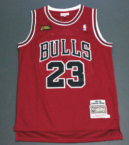 Retro 1998 Finals Michael Jordan #23 Chicago Bull Basketball Jersey Stitched Red