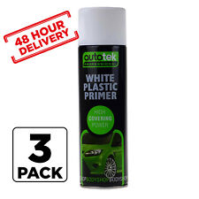 3 x AUTOTEK Professional WHITE Plastic Primer Spray 500m Fast 48 hour Delivery
