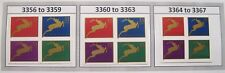 Holiday Reindeer Complete Set 3 Blocks of 4 in Scott #Order MNH Sc 3356 to 3367