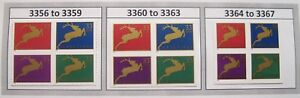 Holiday Reindeer Complete Set 3 Blocks of 4 in Scott #Order MNH Sc 3356 to 3367