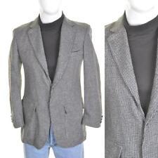 VINTAGE 60s/70s Tweed Blazer S 38R Grey Wool Suit Jacket 1960s/1970s