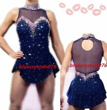 Ice Figure skating dress girl competition ice skating dress customize size h067