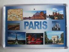PARIS - JUMBO FRIDGE MAGNET -  Arc de Triomphe, Eiffel Tower, Notre Dame, Sacre-