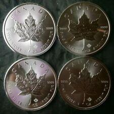 Lot of Four 2018 Canada $5 1oz Silver Maple Leafs
