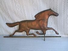 ********** VINTAGE RUNNING HORSE WEATHERVANE-COPPER **********