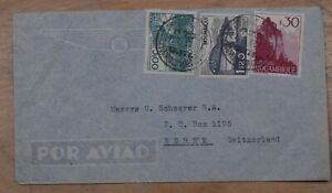 Mayfairstamps Mozambique 1950 to Switzerland Tri Frank Airmail Cover wwp72257