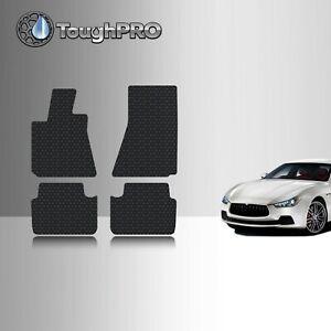 ToughPRO Floor Mats Black For Maserati Ghibli RWD All Weather 2014-2021