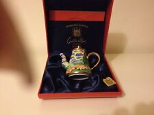 L@@k New Boxed Charlotte di Vita Wheat Field 1889 VVG - Miniature Enamel Teapot