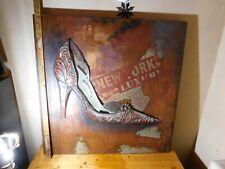 """Metal Wall Art: Sculpted High Heel Shoe, 32"""" x 32"""""""