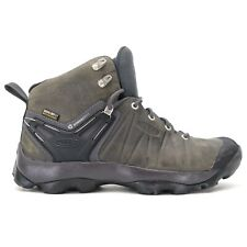 Keen Mens Venture Mid Gray Nylon WP Outdoor Hiking Work Boots Shoes US 8.5 EU 41