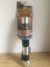 """Star Wars Rebels """"Obi-Wan Kenobi"""" Extendable Lightsaber - NEW - Distressed Pkg"""