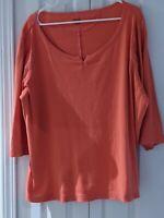 Falls Creek Women's 3X Coral Short Sleeve Shirt Blouse