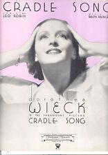 "CRADLE SONG Sheet Music ""Cradle Song"" Dorothea Wieck"