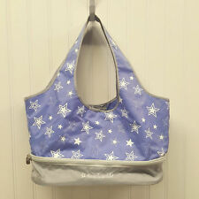 American Girl Doll Tote Bag Doll Carrier Purple Silver Stars  (A17-16)