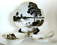 Early Japanese Black and White Collection Noritake and Mieto Set