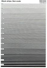 Print Scale Decals BLACK STRIPES