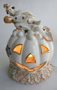 Lenox Occasions~Halloween~Pumpkin Lighted Sculpture~Witch