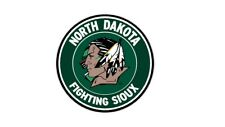 NORTH DAKOTA FIGHTING SIOUX  set of 2 decals ,Free shipping, Made in USA #1