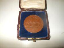 Bronzo Medaglia V.1885 Norimberga Fürth Germania 1.EISENBAHN 50 Jähr. Giubileo