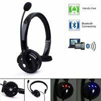Bluetooth Headphone Wireless Gaming Headset with Microphone for PC Mac PS3 Phone