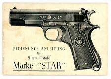 Bedienungsanleitung PISTOLE STAR Kal. 9mm Manual Anleitung COLT 1911 Clone
