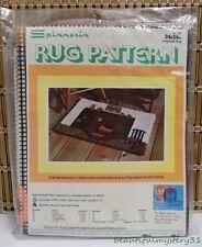 Spinnerin Latch Hook Rug Fireplace Rug Pattern No 293 Vtg 24x34 USA Made Kit