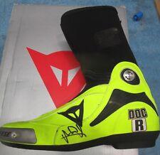 Valentino Rossi signed Dianese Moto GP boot + Photo Proof & COA