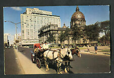 Posted C1966: Horsedrawn Carriage, Dorchester Street, Q.Elizabeth Hotel,Montreal