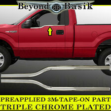 2009-2014 Ford F150 2Dr Regular Cab Chrome Window Sill Covers Trims Overlays