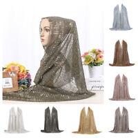 Women Lady Scarf Hijab Wrap Shawls Sequins For Muslim Islamic Headscarf Scarves
