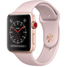Reloj de Apple serie 3 38mm Gps + Celular 4G LTE-Banda De Oro Rosa Sport