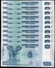 CONGO 100 FRANCS 2013 P 98 UNC LOT 20 PCS